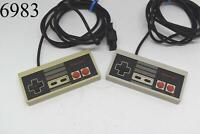 Lot of 2 NES Nintendo Entertainment Controllers Untested Original Toys Games