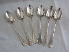 6 Jugendstil Kaffeelöffel 800 Silber, 75,8 Gramm