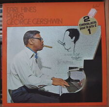 EARL HINES PLAYS  GEORGE GERSHWIN DOUBLE FRENCH LP FESTIVAL