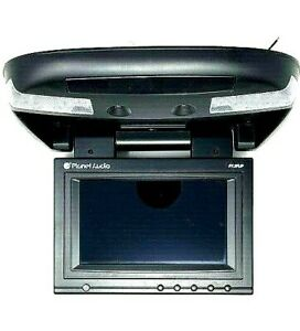 """PLANET AUDIO P7.3FLIP 7""""3 Flip Down Video Monitor w/ Dome Lights and Remote"""