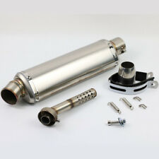 Universal Stainless Steel Motorcycle Exhaust Muffler Pipe + DB Killer 38 - 51mm