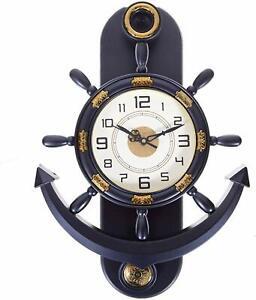 Pendulum Grey Anchor Shape Analog Wall Clock Decorative Wall Clock New Style