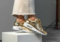 New Nike Women's Air Max 90 in Metallic Gold Colour Size 8.5