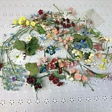 Vintage Mixed Lot Miniature Floral Millinery Flower Stems Cluster Bouquet Spray