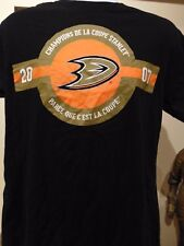 Rare Anaheim Ducks 2007 Stanley Cup French Version Men's  T-Shirt L