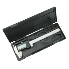 """6"""" 150mm LCD Electronic Digital Vernier Caliper Micrometer Guage Inbox Stainless"""