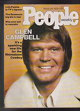 People Magazine Glen Campbell Lola Falana Sassoons March 29 1976 Free S/H