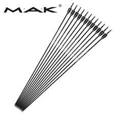 12pcs Diameter 6mm Carbon Arrows Archery SPF1000 Iron Tips Practice Shooting