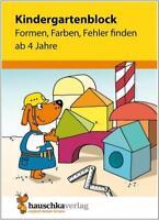 NEU: Übungsblock für Kinder ab 4 Jahren - Formen, Farben, Fehler finden