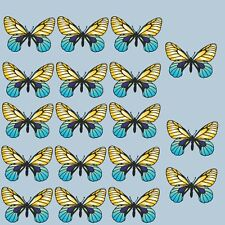 Butterfly stickers 18 blue & yellow butterflies wall art, car, furniture, fridge