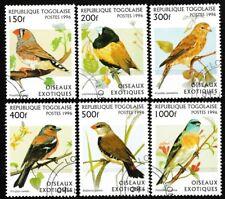 Birds cto set of 6 stamps 1996 Togo #1784-9