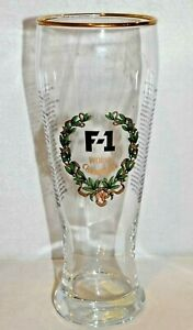 F1 WORLD CHAMPIONS Formula 1 F-1 Racing  1950- 2000 Pilsner Beer Glass