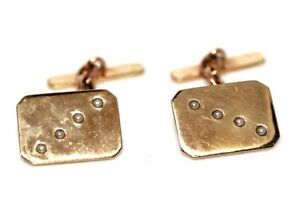 Vintage 9 ct gold & seed pearl 9 ct gold stylish cufflinks LW&G 1950s