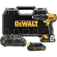 """DEWALT DCD780C2R 1/2"""" 20-Volt Max 20V Li-Ion Compact 1.5 Ah Drill Driver w/ Case"""