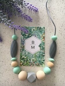 Silicone Necklace for Mum Aus Jewellery Beads (was Teething) Gift Free Postage