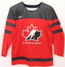 NEW Canada IIHF Black Leaf Mesh Patch Nike Team Ice Hockey Jersey Youth M