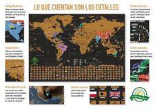 Mapa Mundial para Rascar Poster Mapamundi Países Conquistados Ocio o Trabajo NEW