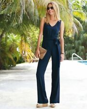 Silk Jumpsuit Sleeveless Playsuits for Women