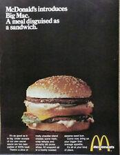 McDonald Big Mac Ad 1969 introduction