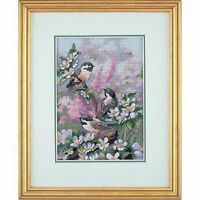Dimensions - Counted Gold Cross Stitch Kit - Spring Chickadees - Birds - D06884