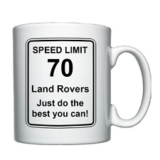 Land Rover - Speed Limit - Personalised Mug Christmas/Birthday/Joke/Funny