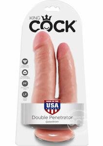 King Cock Double Penetrator Dildo - Vanilla