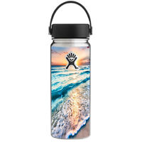 Skin Decal for Hydro Flask 18 oz Wide Mouth / sunset on beach
