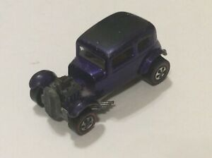 Original Vintage Hot Wheels Redline Classic 32 Ford Vicky in Purple LQQK