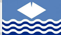 5' x 3' Isle of Wight County Flag IOW Waves England English Counties Banner