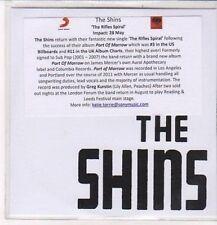 (DC496) The Shins, The Rifles Spiral - 2012 DJ CD