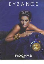 PUBLICITE ADVERTISING 1990   ROCHAS parfum BYZANCE