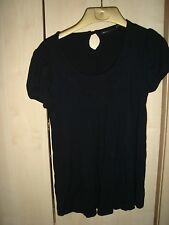 Next Very Trendy Slightly Pleated Black Party Top Size 8 - Excellent Condition