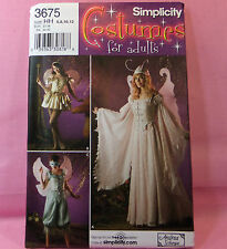Simplicity 3675 Adult 3 Fairy Costume Sewing Pattern 6-12 NEW