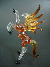 Flying Glass HORSE, PEGASUS, Tinted Red, Stained Glass Animal, Figure, Ornament