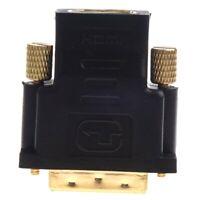 Neu Vergoldet HDMI Buchse auf DVI-D Stecker Video Adapter DVI auf HDMI Kabe Z1I3