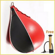 Heavy Duty Boxing Pear Shape Pu Speed Ball Swivel Punch Bag Punching Exercise