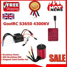 GoolRC S3650 4300KV Sensorless Brushless Motor 60A ESC Program Card Combo Set