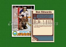 Don Edwards - Buffalo Sabres - Custom Hockey Card  - 1976-77