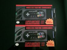 2X HORI SNES MINI Classic Fighting Commander Wireless Controller