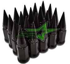 24 BLACK SPIKE LUG NUTS 12x1.25 | FITS INFINITI G35 G37 Q50 Q60 Q70