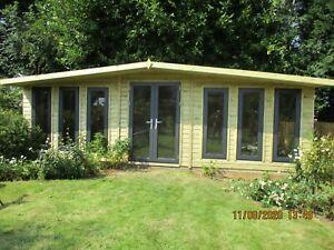 26x10 Windsor summerhouse Aluminium Doors shed workshop garden building WOW
