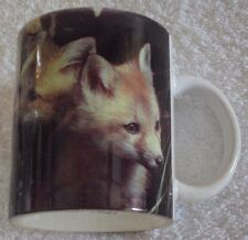 "Red Fox Pups National Wildlife Federation 4"" tall Coffee or Tea Mug Cup"