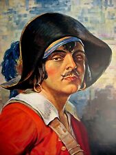 Authentic Antique Lithograph - THE LOVE PIRATE (Flohri) - Vintage Art