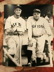 "Lou Gehrig & Babe Ruth - 8"" x 10"" Photo- 1930's - New York Yankees"