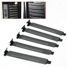 1pc PCI Bracket Slot Cover Dust Filter Black Steel Blank Black Plate 4.75 Dlqq