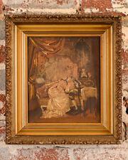18th century French interior court scene -Painting