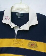 New listing Polo Ralph Lauren Vintage Fishing Tackle Logo Rugby Shirt Men's XLT