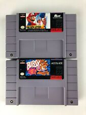 Lot of 2 Bubsy & Mario's Early Years: Fun With Letters for Super Nintendo SNES
