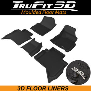 Trufit Floor LIners for Toyota Hilux Dual Cab 2015 - 2021 MANUAL 3D Rubber Mats