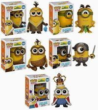 Funko Pop Minion Movies set of 5 - Kevin, Bob, Cro-Minion, Au Naturel, Aye Matie